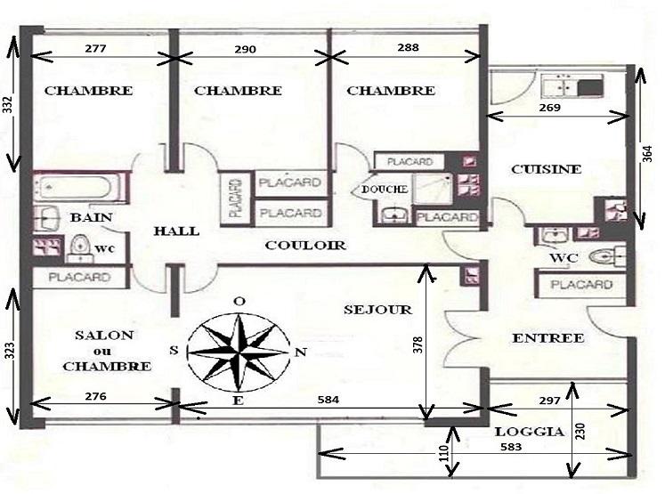 plan d'appartement f5